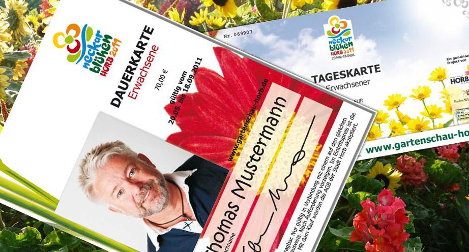 Rubrik Gartenschauen - Verkaufsförderung / Ticketvermarktung