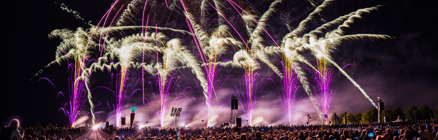 Feuerwerk bei den Flammenden Sterne Ostfildern