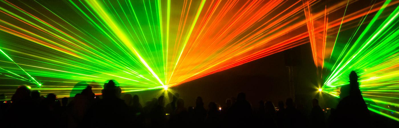 Lasershow bei den Flammenden Sterne Ostfildern