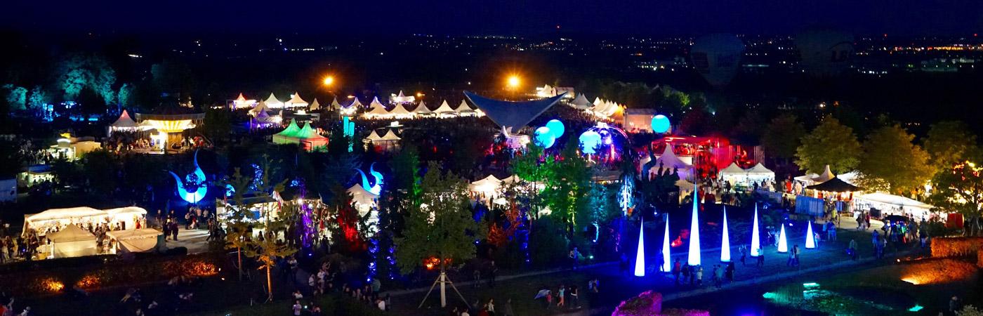 Blick auf das Veranstaltungsgelände der Flammenden Sterne Ostfildern